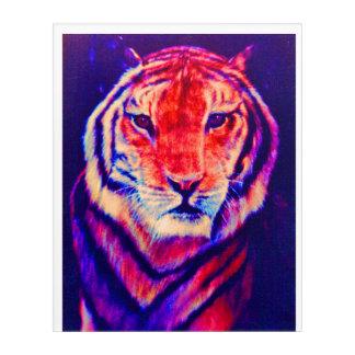 TIGER IN THE NIGHT-NEON. ACRYLIC WALL ART