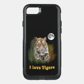 Tiger in the night OtterBox commuter iPhone 8/7 case