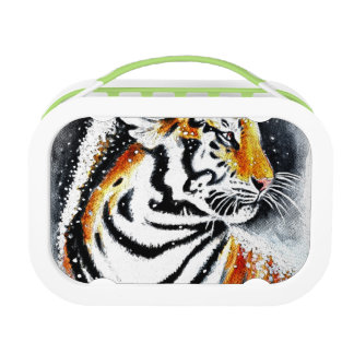 Tiger In The snow noir Lunch Box