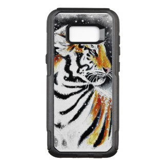Tiger In The snow noir OtterBox Commuter Samsung Galaxy S8+ Case