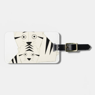 tiger kisses luggage tag