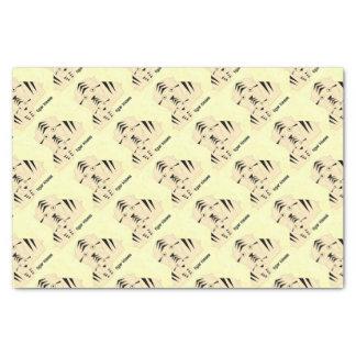 tiger kisses tissue paper