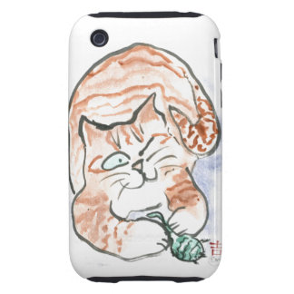 Tiger Kitten's Toy iPhone 3 Tough Cases