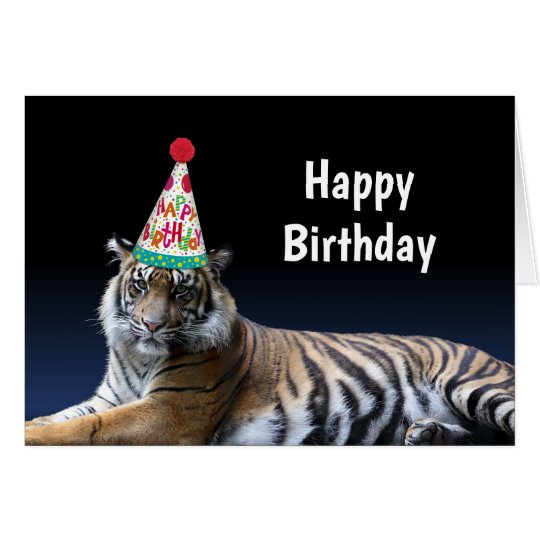 Tiger Let's Party Birthday Card