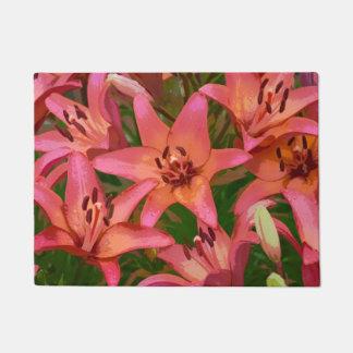 Tiger lilies doormat