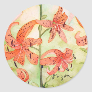 Tiger Lillies Stickers, for you Classic Round Sticker