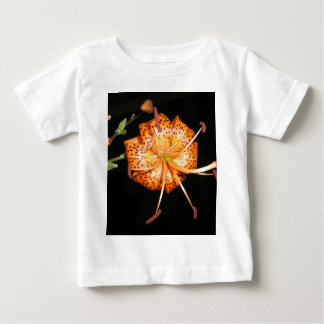 Tiger Lilly on Black Background Baby T-Shirt