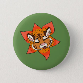 Tiger Lily 2 Inch Round Button