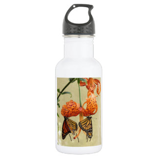 Tiger Lily and Monarchs 532 Ml Water Bottle