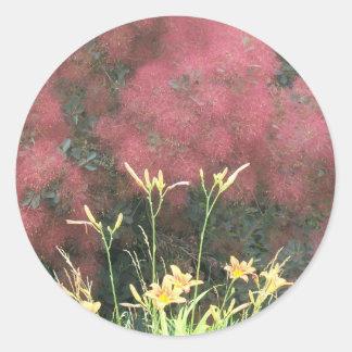 Tiger Lily and Smoke Tree Classic Round Sticker