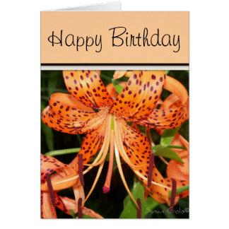 Tiger Lily Birthday Card