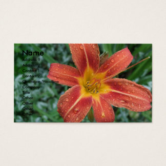 Tiger Lily Business Card Template