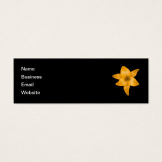 Tiger Lily Flower on Black. Mini Business Card