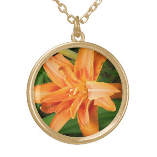 Tiger Lily Gold Plated Necklace