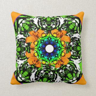 Tiger Lily Mandala Pillow