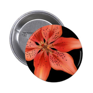 Tiger Lily Painting 2 Inch Round Button
