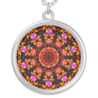 Tiger Lily Pattern Art Necklace