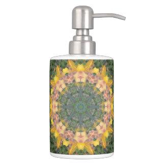 Tiger Lily Soap Dispenser/Toothbrush Holder Set Bath Accessory Sets