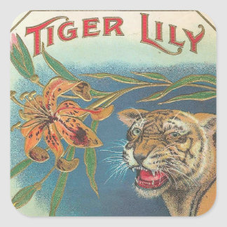 Tiger Lily Square Sticker