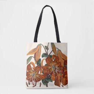 Tiger Lily, Tote, Botanical, Curtis Tote Bag