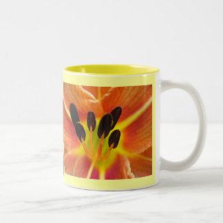 Tiger Lily Two-Tone Coffee Mug