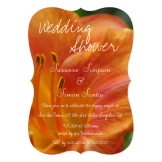Tiger Lily Wedding Shower Card
