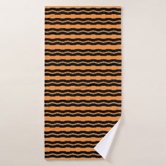 Tiger Lines Bath Towel