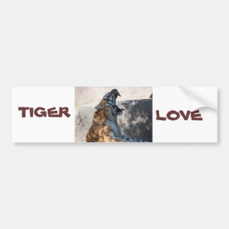 Tiger Love Bumper Sticker