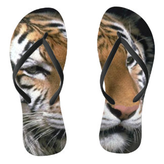 Tiger Lover Striped Flip Flops