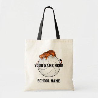 Tiger mascot Volleyball tote bag