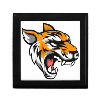 Tiger Mean Animal Mascot Jewelry Boxes