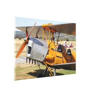 Tiger Moth yellow biplane aircraft Canvas Print