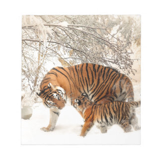 Tiger Mother and baby Notepad