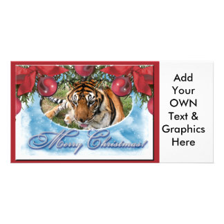 Tiger Nini-c-41 copy Personalized Photo Card