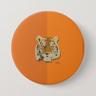 Tiger of the Wild 3 Inch Round Button