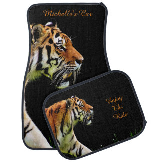 Tiger on Black *personalize* Car Mat