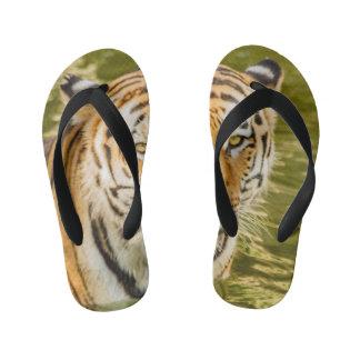 tiger on Custom Flip Flops, Kids Kid's Flip Flops