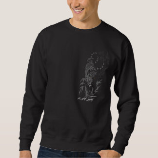 Tiger On the Prowl Black T-shirt (Horizontal)