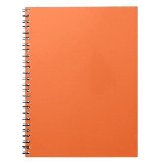 Tiger Orange Personalized Trend Color Background Notebook