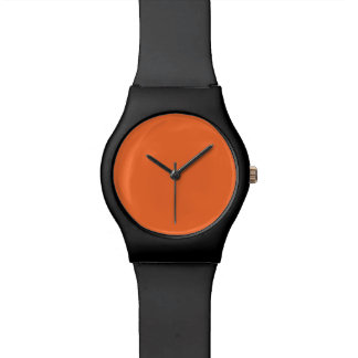 Tiger Orange Personalized Trend Color Background Wrist Watches