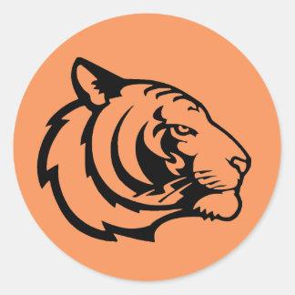 Tiger orange stickers