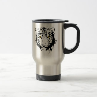 Tiger Outline Travel Mug