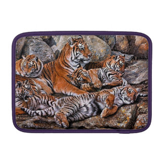 Tiger painting-tiger family-tiger cubs-tiger art MacBook sleeve