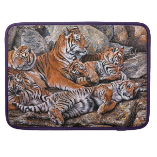 Tiger painting-tiger family-tiger cubs-tiger art sleeve for MacBooks