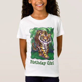 Tiger Party Center Birthday Girl T-Shirt