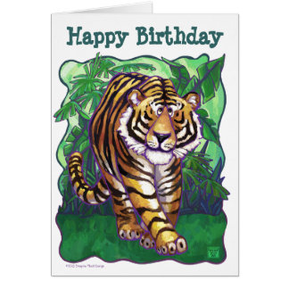 Tiger Party Center Card