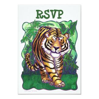 Tiger Party Center RSVP Cards