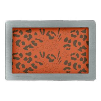Tiger pattern brown ethno belt buckle