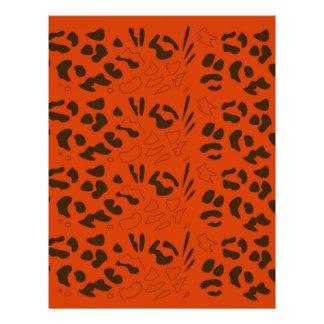 Tiger pattern brown ethno letterhead
