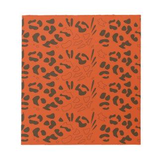 Tiger pattern brown ethno notepad